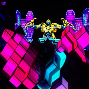 Custom LED Video DJ Booth for clubs and bars