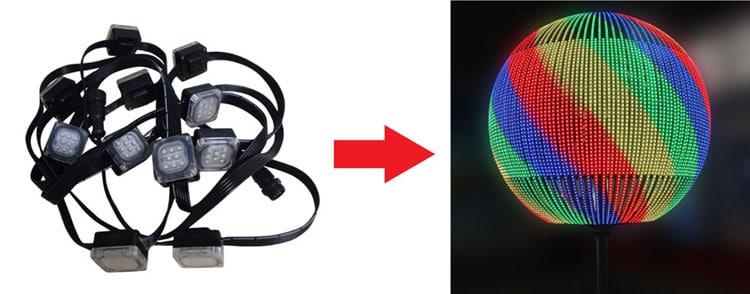 Flexible LED Light Strings for led sphere display
