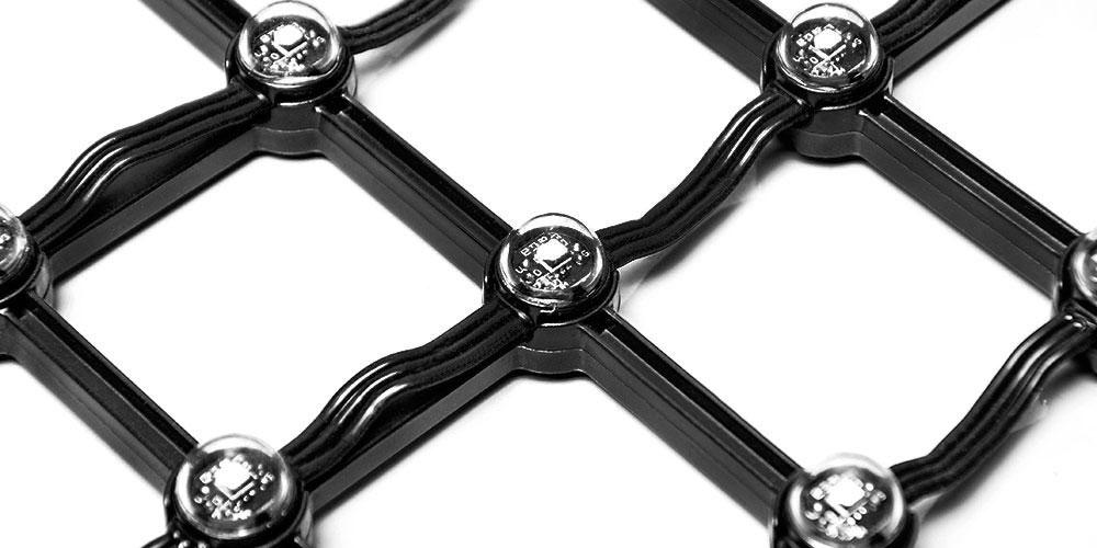 IP65, 1000-1500 nits, 1LEDs per dot flexible led mesh