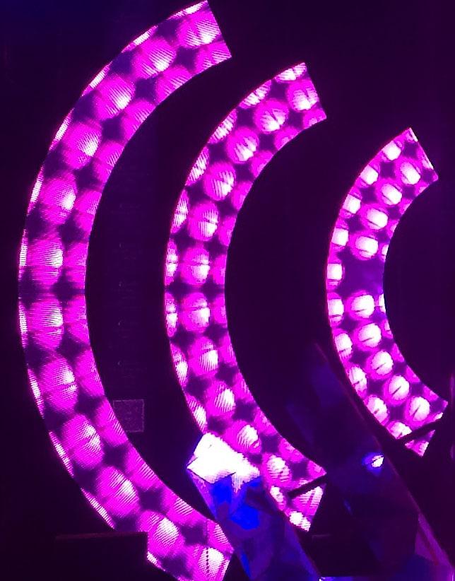 Anpassningsbar cirkulär ledd displayformat