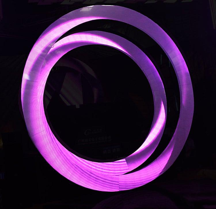 Okrągły wyświetlacz LED o wysokiej rozdzielczości