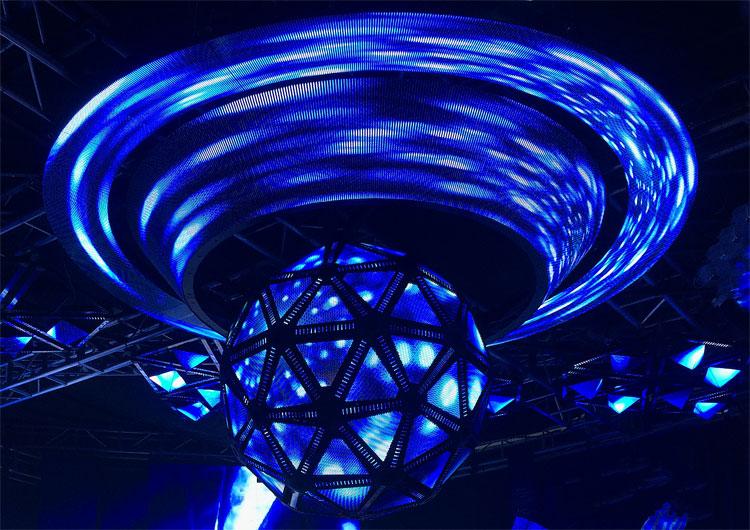 Passen Sie die digitale Show an, die als kreisförmige LED-Anzeige für eine einzigartige Präsentation angezeigt werden soll