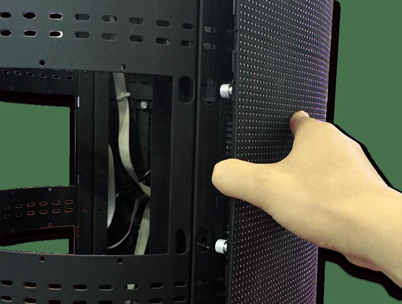 Front service flexibel led displaymodul