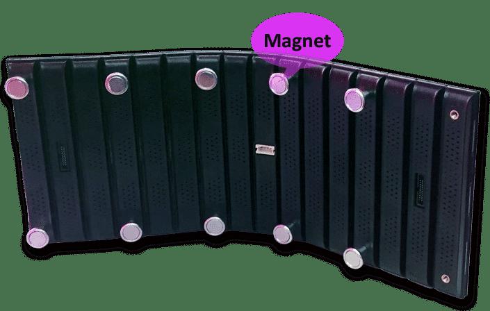 Módulo de display LED flexível de design modular magnético