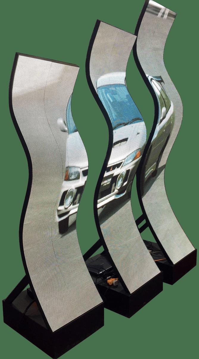 flexibel ledd displaymodul för vågformsdesign