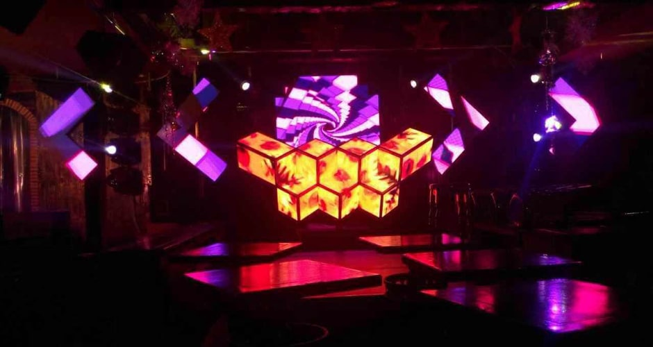 high definition led dj booth