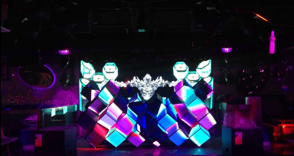 immersive visual experience led video dj booth