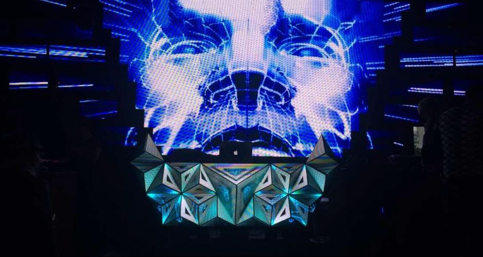 kreative Form Video-DJ-Bildschirm