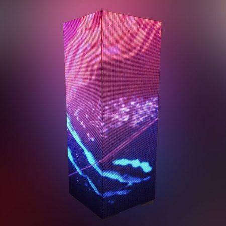 Columna LED ofrece contenido colorido