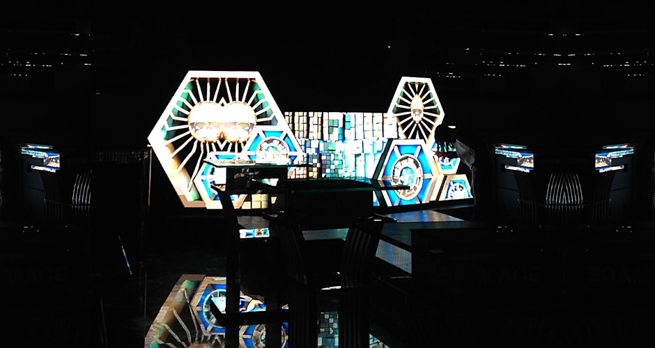 custom dj booth creates memorable visual experience