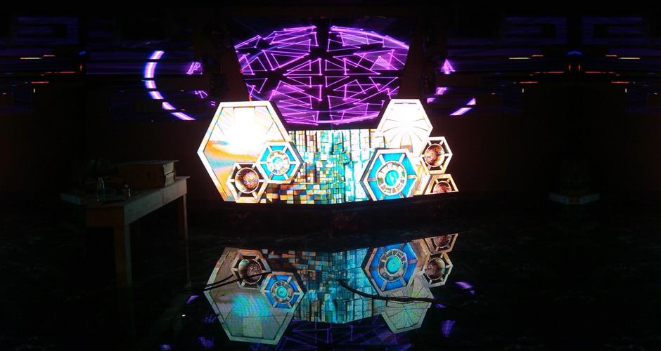 aangepaste dj-booth in nachtclub