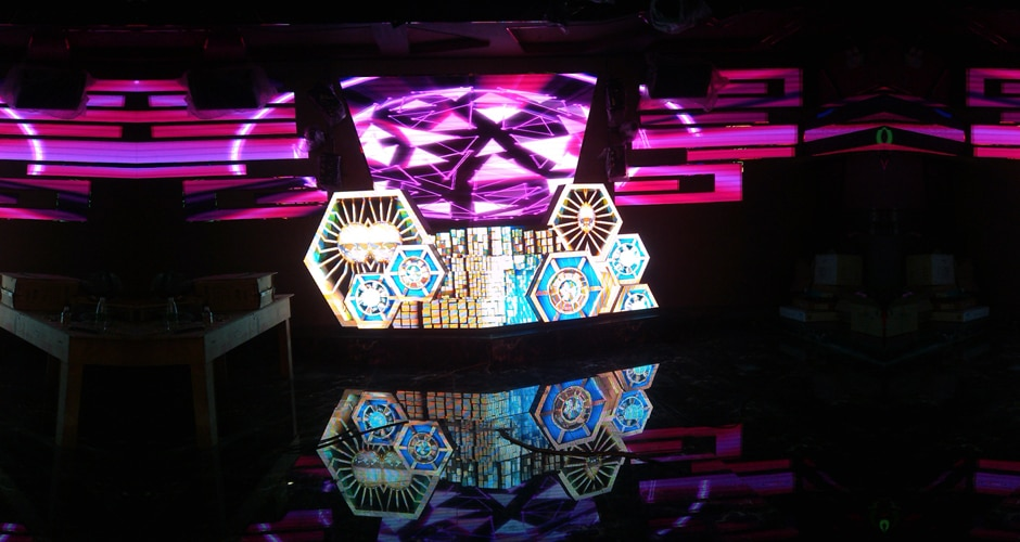 custom dj booth brings exceptional visual experience
