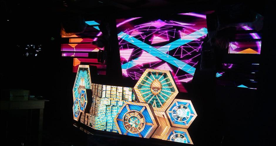 Aangepaste dj-cabine met 3D-effect