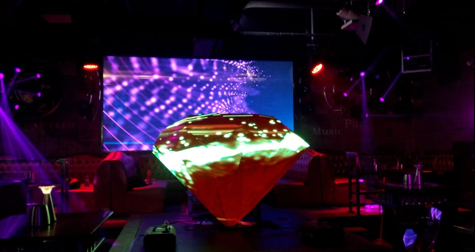 diamond shape dj booth screen