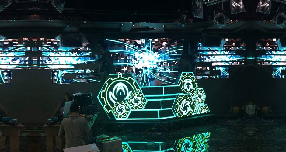 custom dj booth brings cool visual experiences