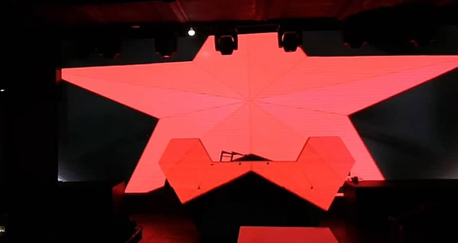 creative shape dj video wall