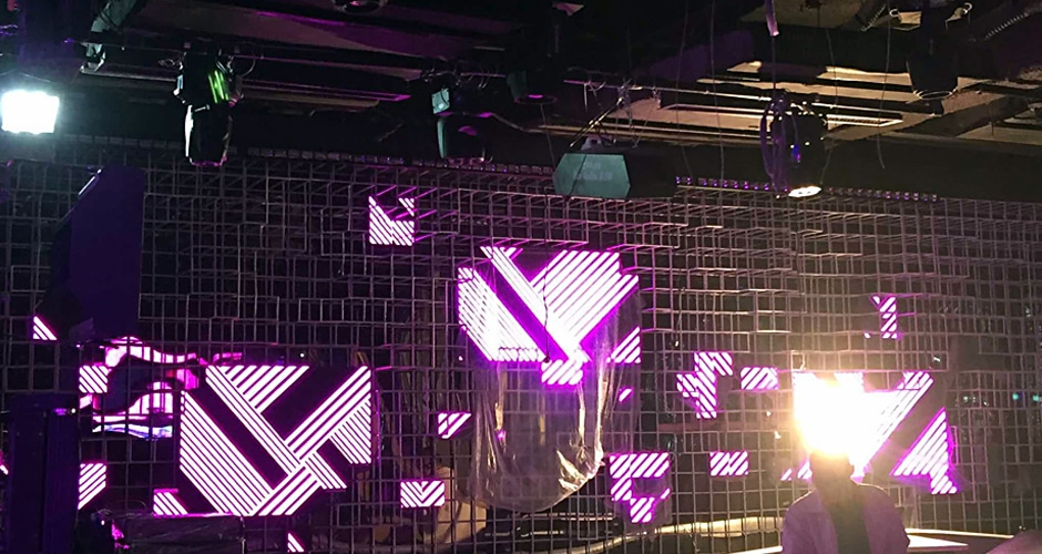 dj booth led screen installation