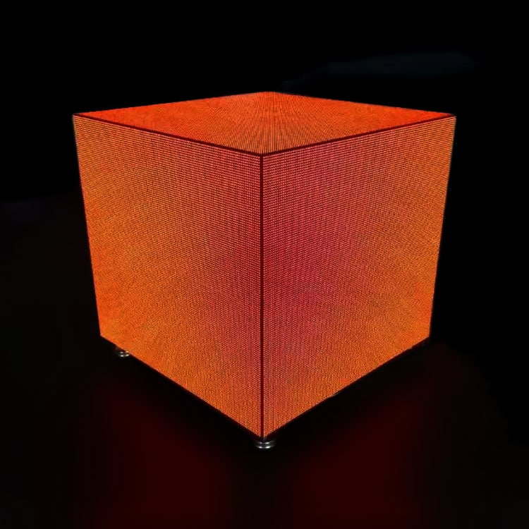 high precision led cube display