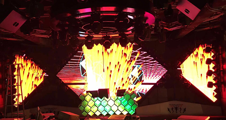 exclusive visual experience dj booth led screen