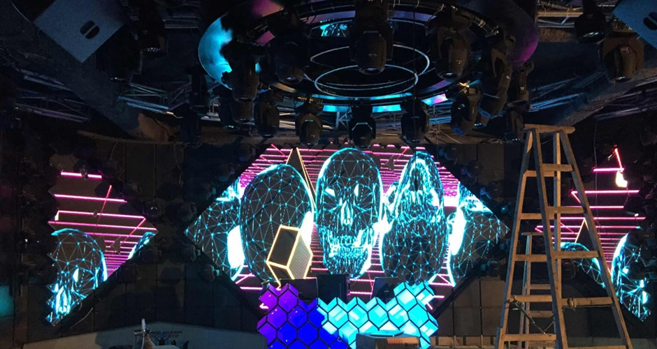 cool effect dj booth led screen