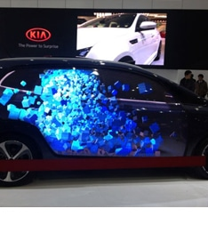 led video display for autoshow