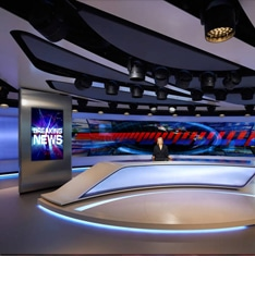 Fine Pitch LED Display for News Studio