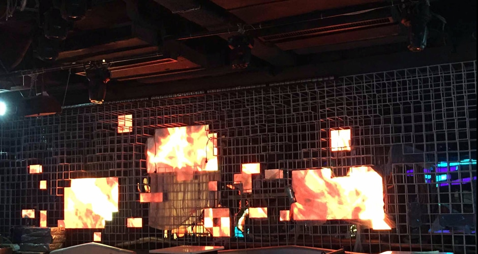 dj booth led screen installation process