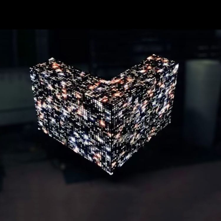 video dj booth creates stunning effect
