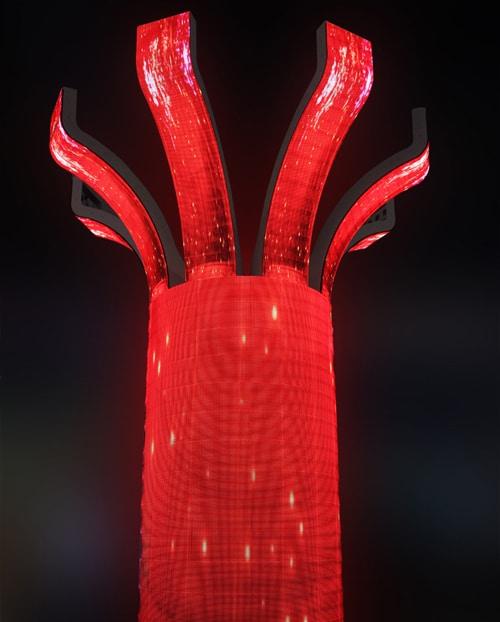 تخصيص شكل اسطوانة شاشة led