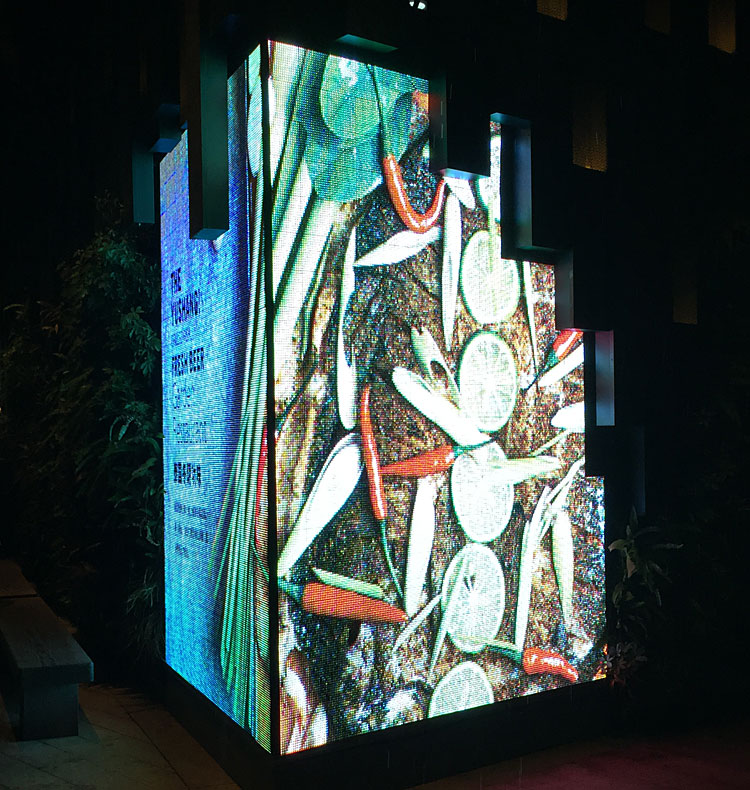 high definition performance double sided led display