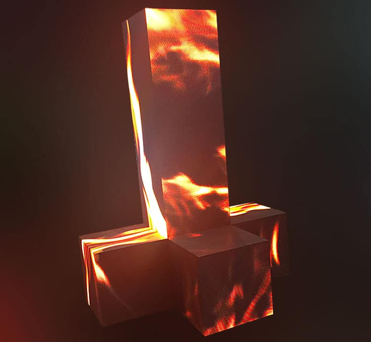 Columna LED de forma personalizable