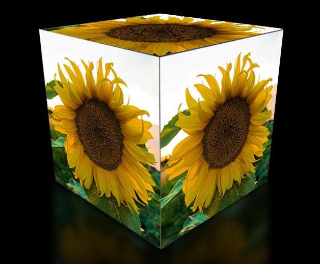 Affichage HD de cube en effets HD