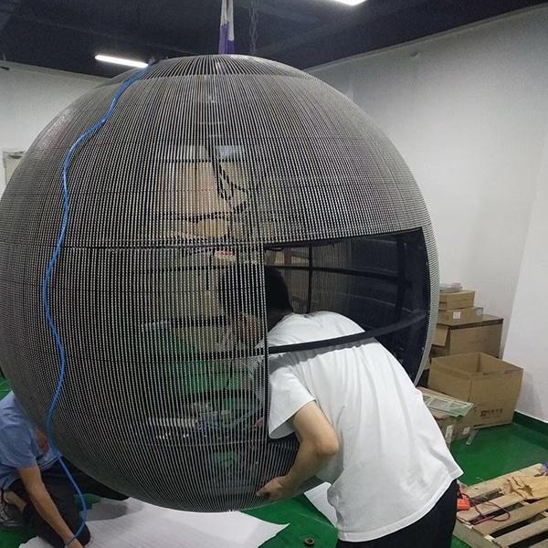 Transparent led sphere display