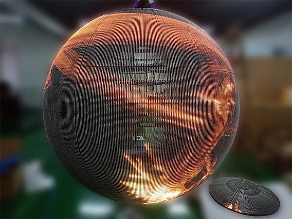Transparent LED sphere