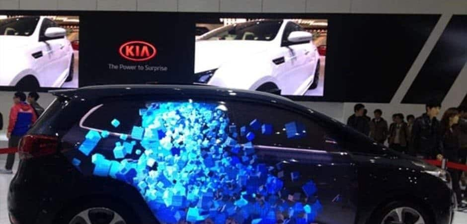 pantalla led de pared en evento autoshow