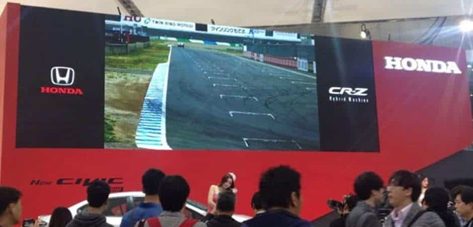 high definition led screen wall on auto show