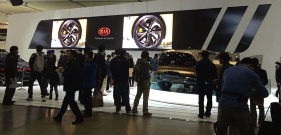 led screen wall enhance brand experience on auto show