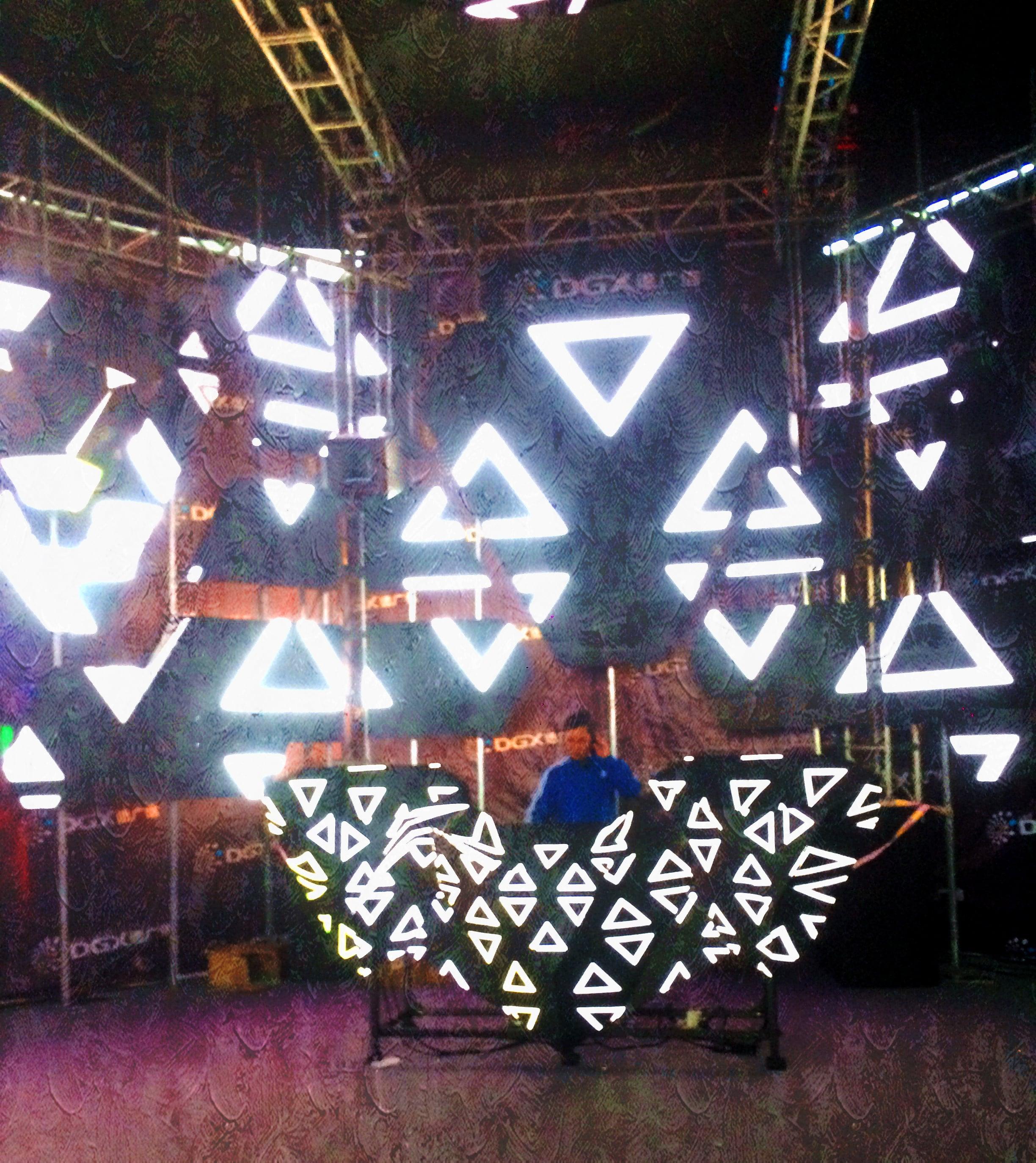 niezwykłe wizualizacje Ekran LED dla DJ