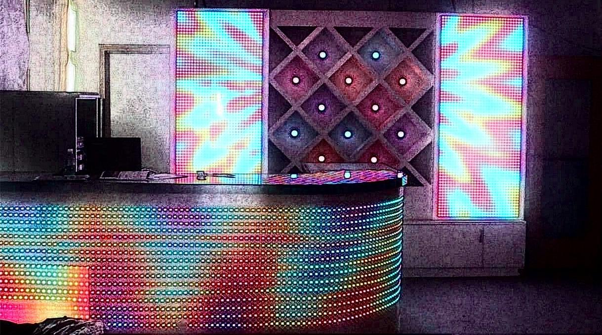 Ekran LED dla DJ zapewnia żywe i żywe kolory i efekty
