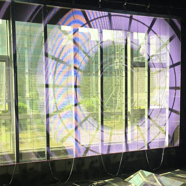 transparent led display delivers high definition images or videos