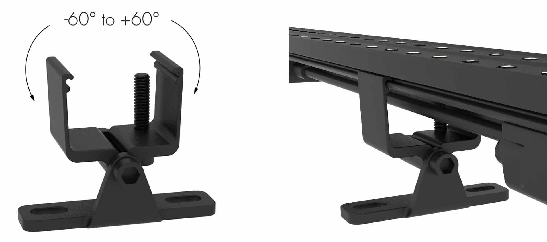 led strip video Adjustable Bracket