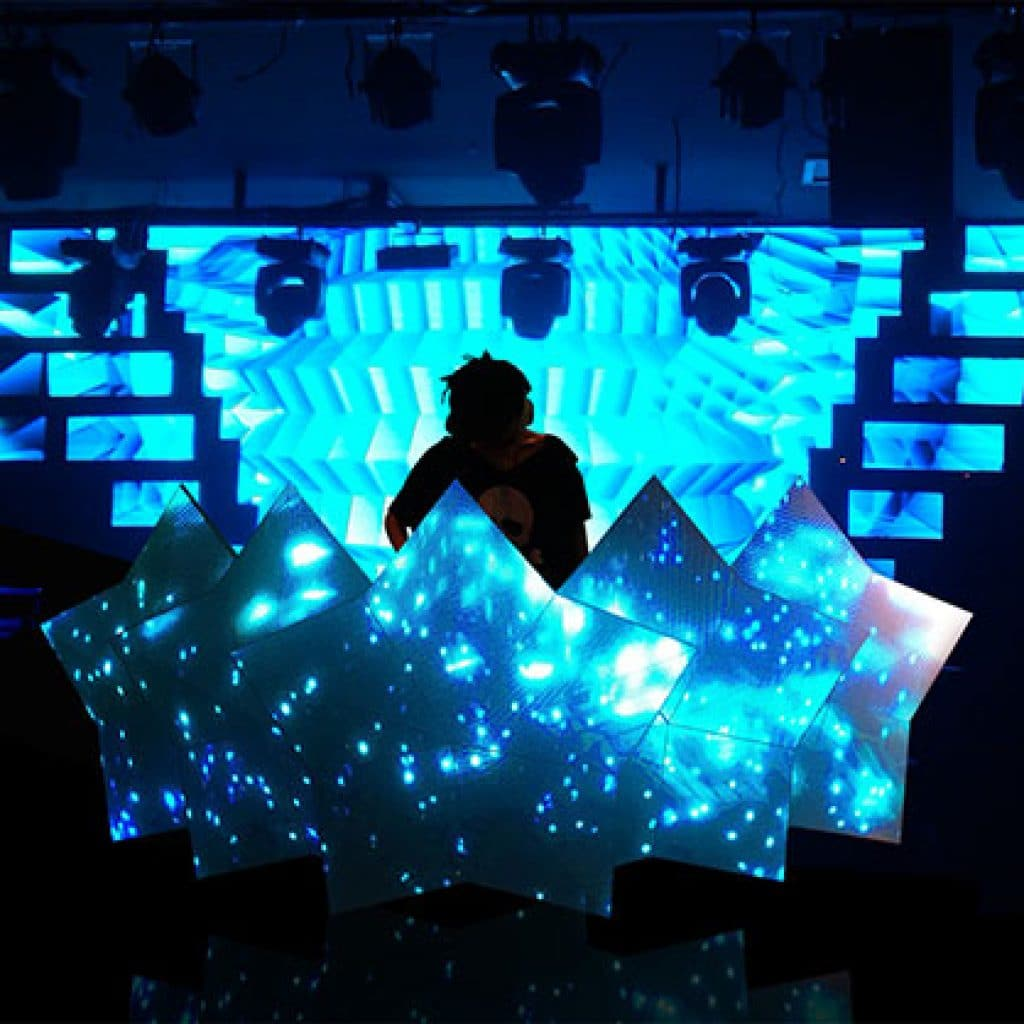 vivid and fantasy effect HD LED Video DJ Booth