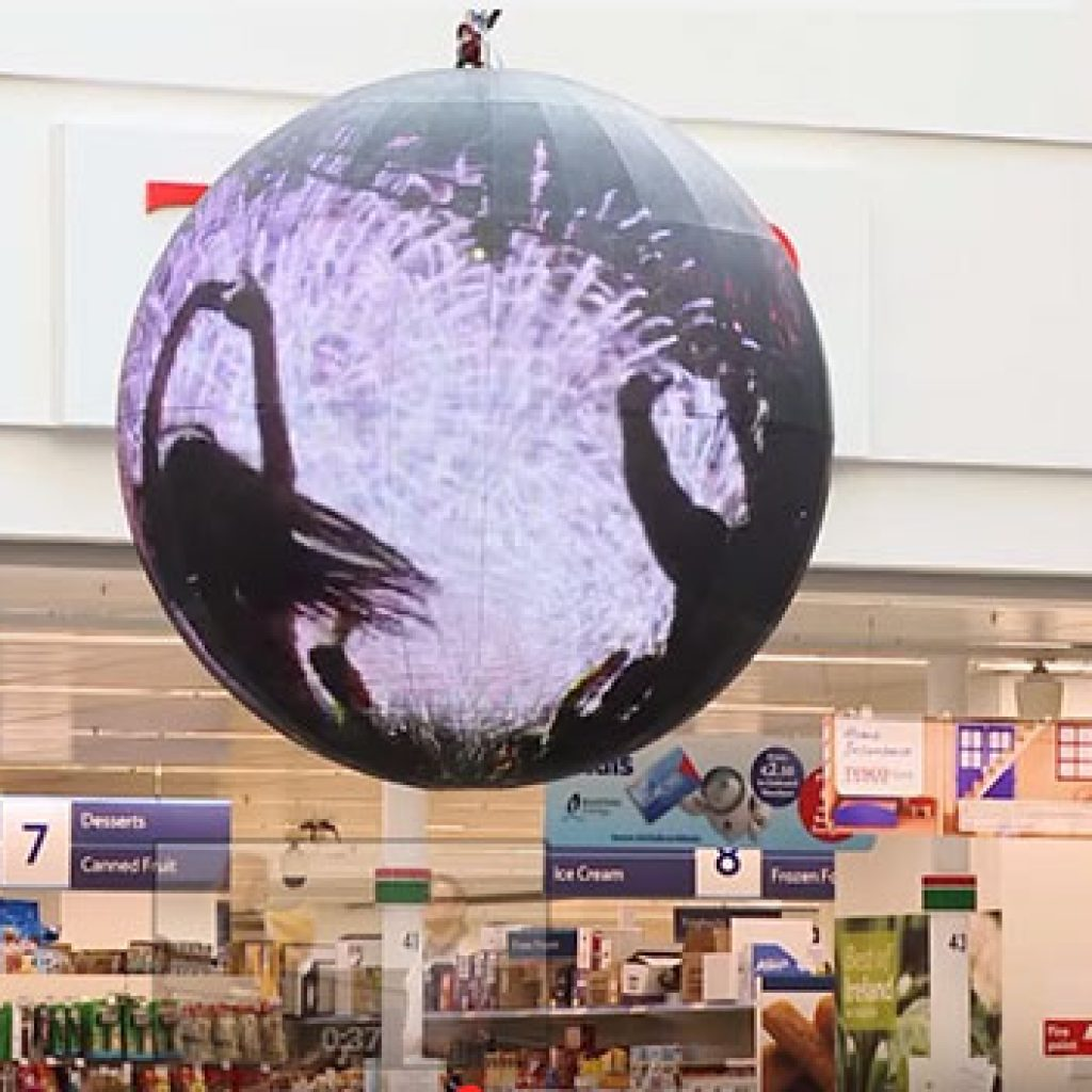 LED Sphere display for shopping mall