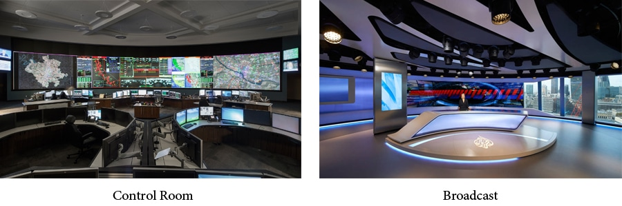 fine pitch led display used in broadcast/control room