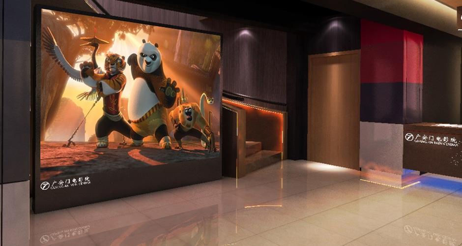 Videowandschirme im Kinosaal