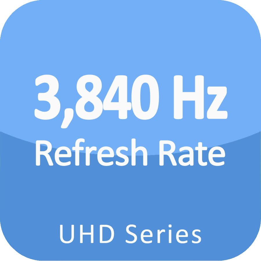 3840 HZ refresh rate fine pitch led display