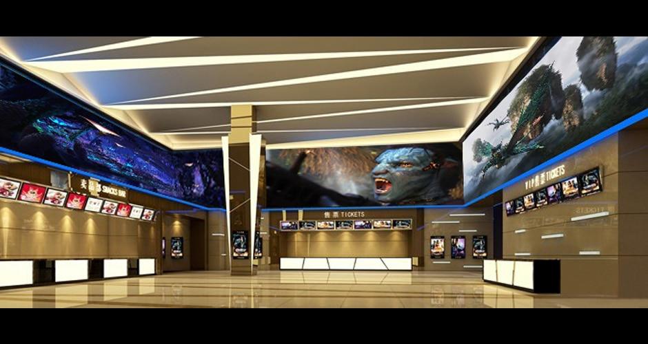 meeslepende video-muurschermen voor visuele ervaringen