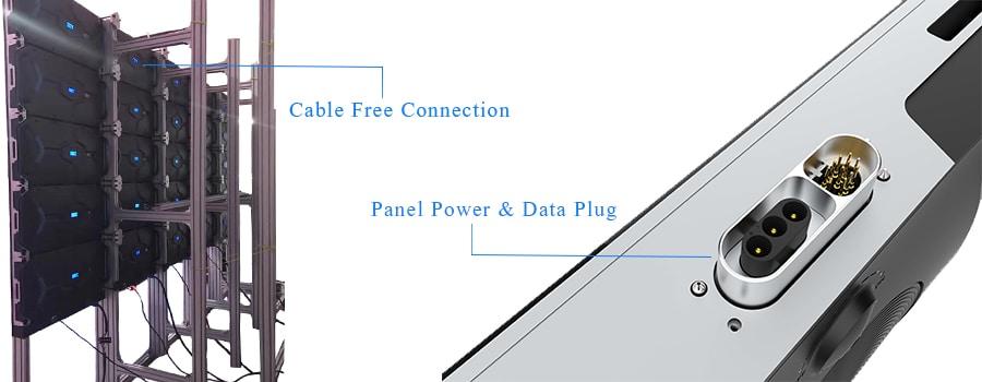 fine pitch led display kabelfreie verbindung