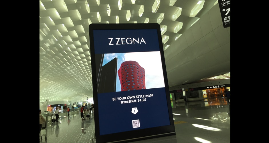 hochauflösende digitale Flughafenwerbung