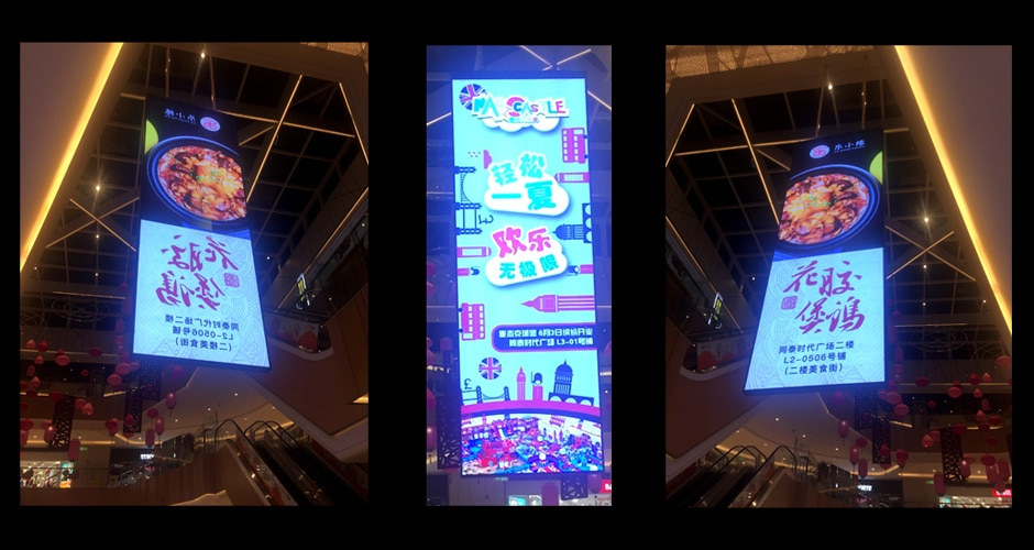 hanging led display enhance brand experience